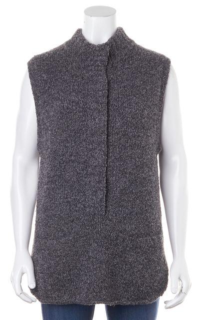 ALEXANDER WANG Gray Wool Boucle Chunky Knit Sleeveless Vest Tunic Sweater
