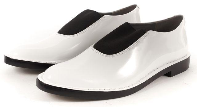 ALEXANDER WANG White Black Patent Leather Darla Oxford Flats