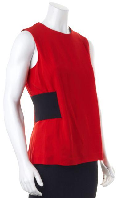 ALEXANDER WANG Red Stretch Sleeveless Blouse