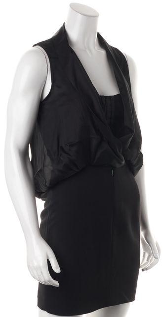 ALEXANDER WANG Black Drape Blouson Dress