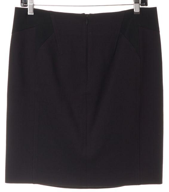 ALEXANDER WANG Black Two-Tone Above Knee Straight Skirt