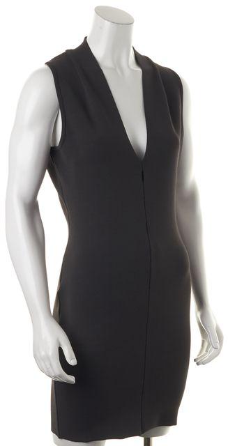 ALEXANDER WANG Kale Green Laser Cut V-Neck Stretch Dress
