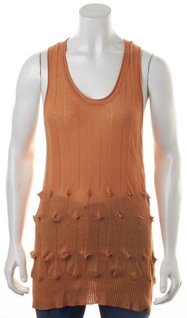 ALEXANDER WANG Orange Cotton Sleeveless Racerback Knit Top
