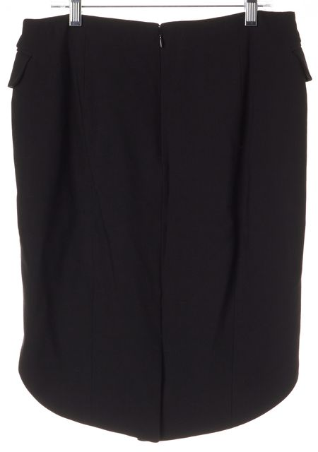 ALEXANDER WANG Black High-Low Button Front Straight Skirt