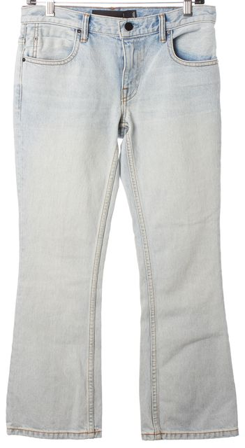 ALEXANDER WANG Bleached Blue Trap Cropped Boot Cut Jeans