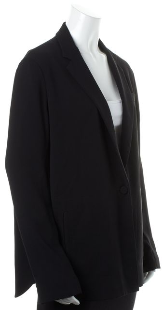 ALEXANDER WANG Black One Button Relaxed Fit Blazer Jacket