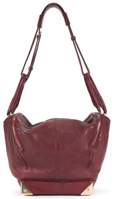ALEXANDER WANG Maroon Red Leather Marina Hobo Shoulder Bag