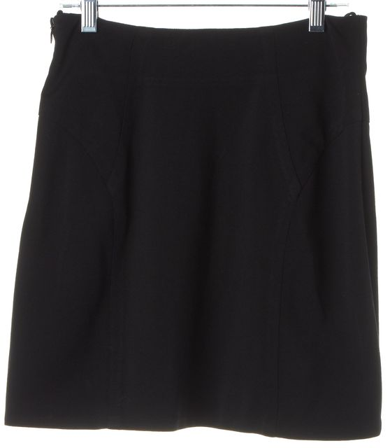 ALEXANDER WANG Black Stretch Mini A-Line Skirt