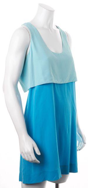 ALEXANDER WANG Light Teal Blue Two Layer Sleeveless Mini Sundress