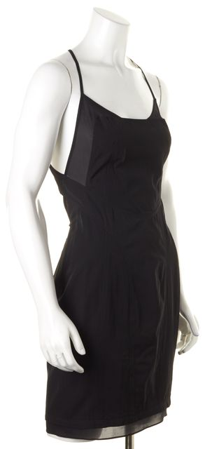 ALEXANDER WANG Black Cut-Out Back Sheer Side Panel Sheath Dress