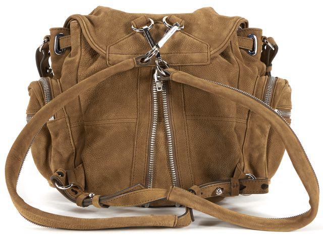 ALEXANDER WANG Brown Suede Mini Marti Backpack Shoulder Bag