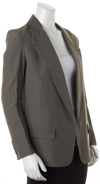 ALEXANDER WANG Dusty Gray Loose Fit Open Career Blazer