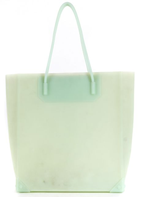ALEXANDER WANG Light Green Clear Rubber Tote Bag