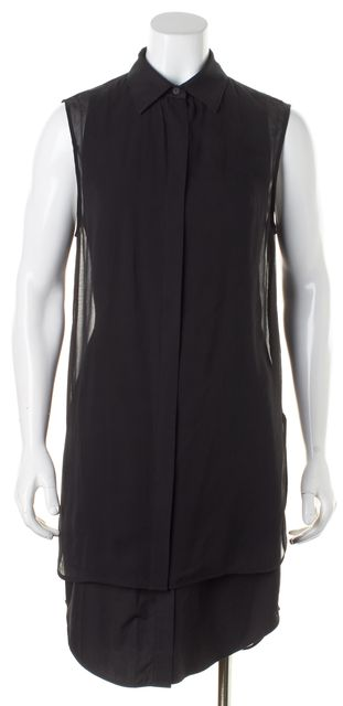 ALEXANDER WANG Black Double Layer Shirt Dress