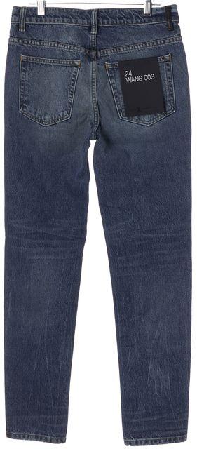 ALEXANDER WANG Blue Medium Indigo Aged Slim Fit Jeans