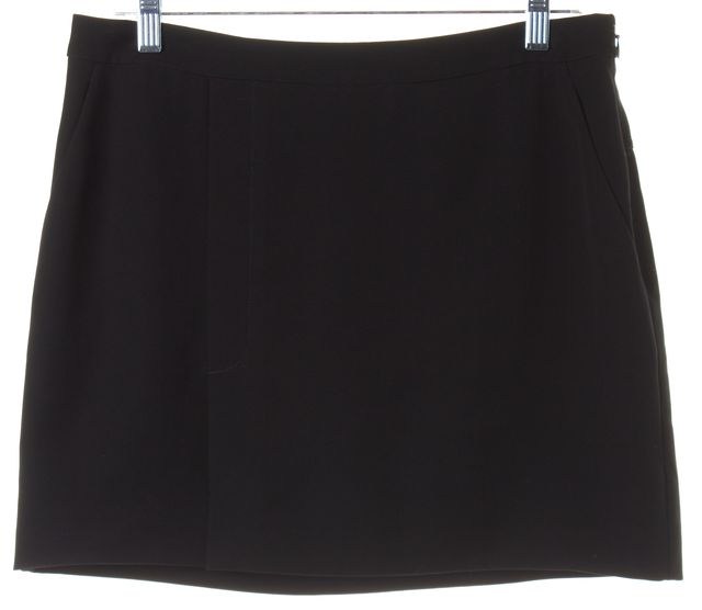 ALEXANDER WANG Black Above Knee A-Line Skirt