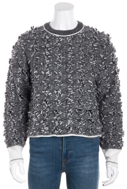 ALEXANDER WANG Gray Alpaca Crewneck Sweater