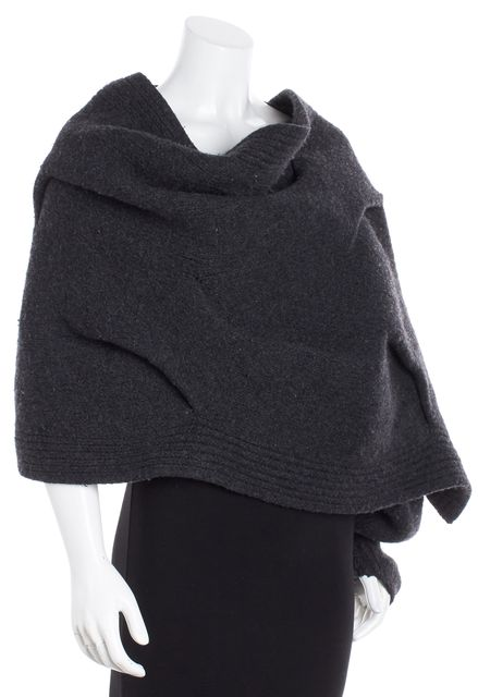 ALEXANDER WANG Gray Wool Shoulder Sweater