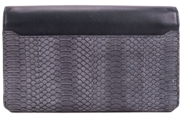 ALEXANDER WANG Blue Leather Snake Skin Clutch