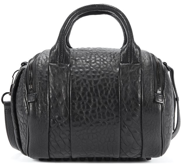 ALEXANDER WANG Black Grained Leather Black Hardware Rockie Satchel