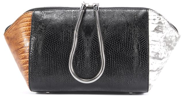 ALEXANDER WANG Black Multi-Color Leather Clutch Bag