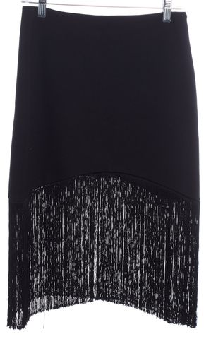 ALEXIS Black Fringe Mini Skirt