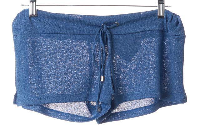 ALEXIS Blue Drawstring Waist Short Shorts