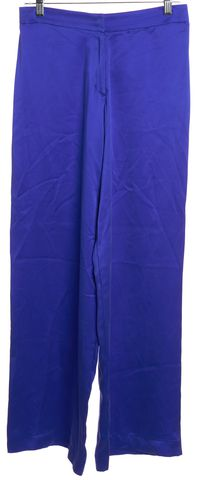 ALEXIS Blue Silk Wide Leg Casual Pants