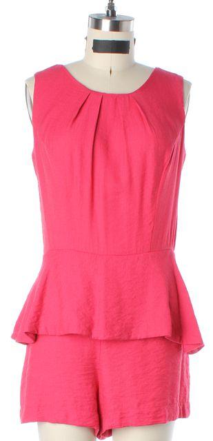 ALEXIS Pink Sleeveless Blouson Peplum Romper