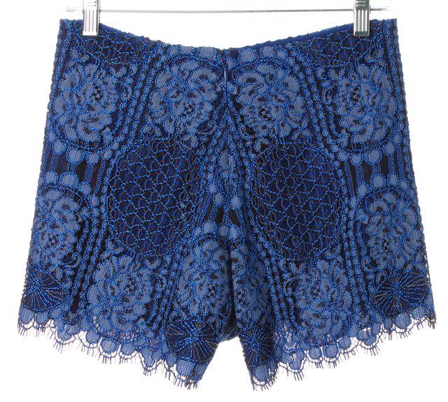 ALEXIS Blue Lace Gigi Dress Mini Short Shorts