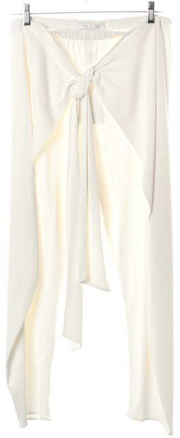ALEXIS Ivory Nikos With Slash Cropped Trouser Dress Pants