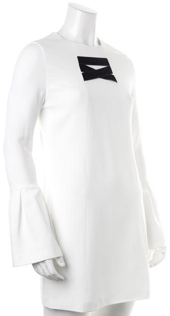 ALEXIS Ivory Black Flare Sleeve Josephine Shift Dress