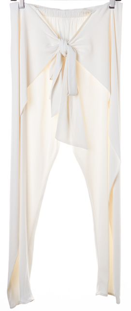 ALEXIS Ivory Niko Front Tie Sash High Rise Cropped Slim Dress Pants