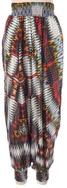 ALEXIS Multi-Color Silk Printed Stretch Waist Jogger Pants