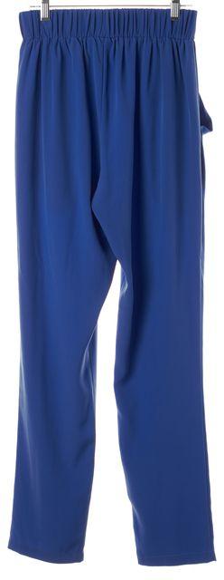 ALEXIS Electric Blue Elastic Waist Casual Pants