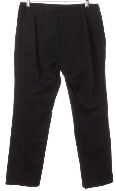 ALEXIS Black Crepe Cropped Trouser Dress Pants