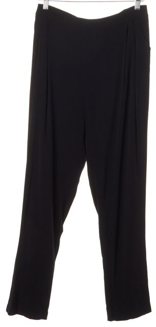ALEXIS Black Crepe High Rise Elastic Waist Casual Pants
