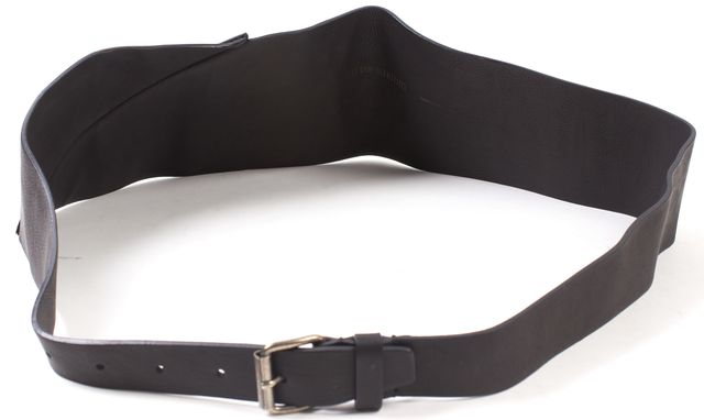 ANN DEMEULEMEESTER Black Matteo Wide Skinny Belt