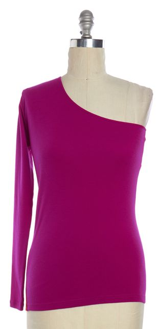 ANN DEMEULEMEESTER Pink Red Colorblock Wool One Shoulder Knit Top