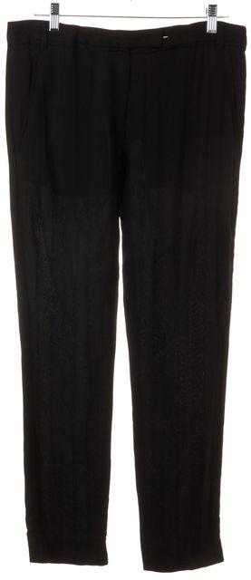 ANN DEMEULEMEESTER Black Dress Pants