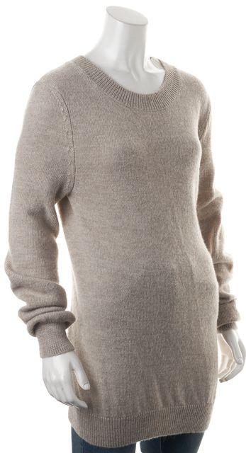 ANN DEMEULEMEESTER Beige Alpaca Wool Knit Sweater