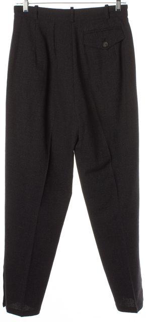 ANN DEMEULEMEESTER Dark Navy Blue Wool High-Waist Trouser Pants