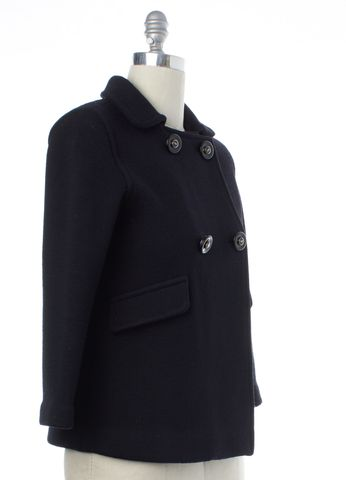 ANYA HINDMARCH Black Double Breasted Knit Jacket