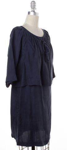 APIECE APART Navy Blue Layered Short Sleeve Blouson Dress