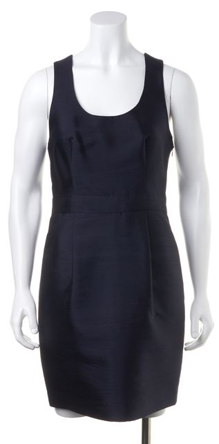 APIECE APART Navy Blue Casual Strapless Sheath Career Dress