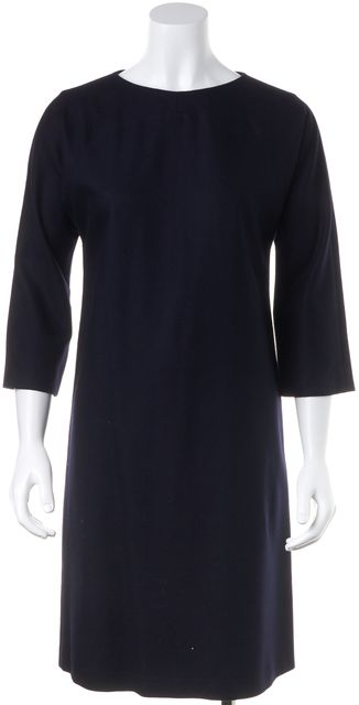 APIECE APART Blue 3/4 Sleeve Knee Length Sheath Dress