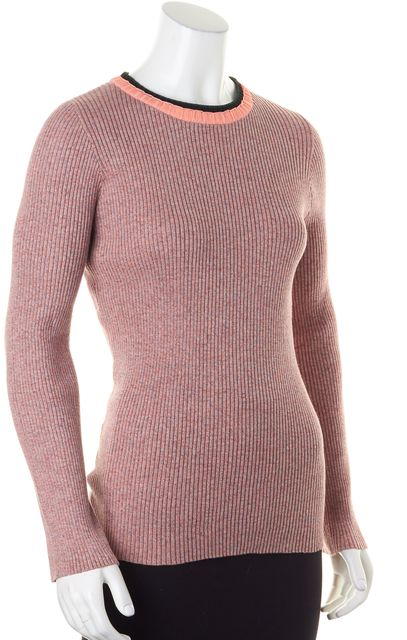 APIECE APART Pink Marled Stretch Ribbed Knit Top