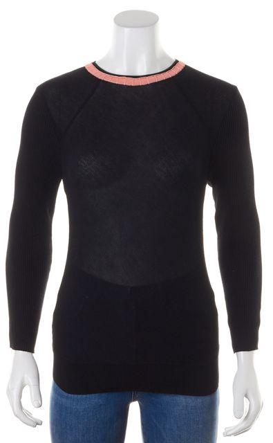 APIECE APART Black Cotton Stretch Knit Crewneck Sweater