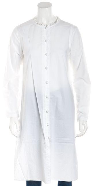 APIECE APART White Long Button Down Tunic Top