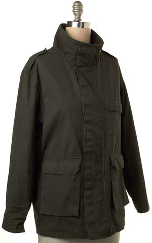 A.P.C. Olive Green Zip Up Velcro Snap Button Up Cargo Jacket